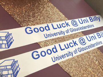 Good Luck At University Banners - Personalised
